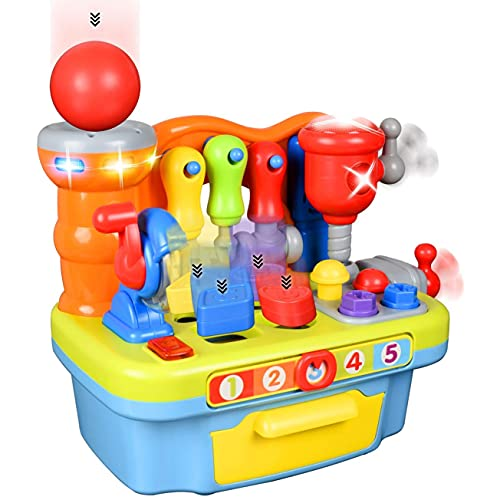 Little Engineer Multifunctional Kids Musical Learning Tool Workbench - Educational Learning Toy...