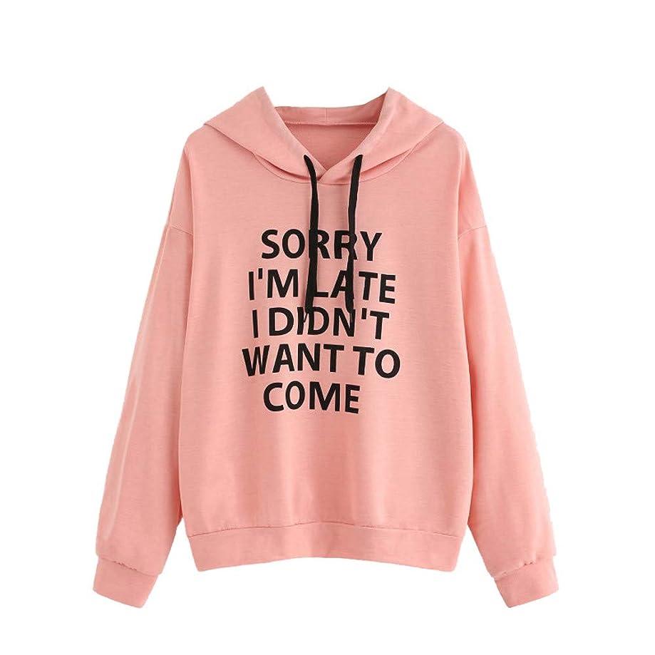 Big Toimoth Women Long Sleeve O-Neck Letter Print Hoodie Jumper Sweatshirt Pullover Tops