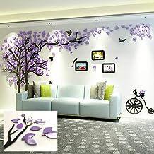 KINBEDY Acrylic 3D Tree Wall Stickers Wall Decal Easy to Install &Apply DIY Decor..
