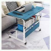 MQJ エッサル/椅子テーブルオーバーベッドテーブル調整可能な高さ調節可能なpcコンピューターのデスクオフィス会議室ホームベッドサイドノートパソコン,青い松,60 * 40Cm