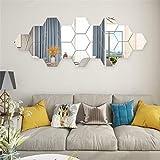 Price Xes - Adesivi da parete a specchio esagonale, 12 pezzi, decorazione per la casa, per soggiorno, camera da letto, divano, TV, decorazione da parete Kl574p Sweatshirt - Bambini