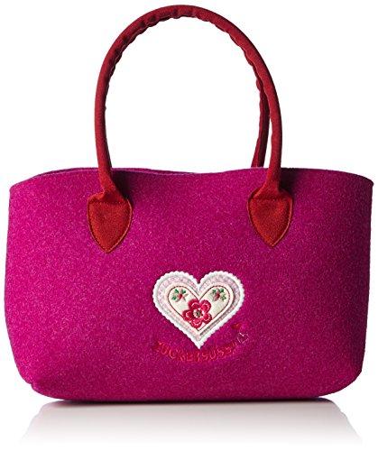 Adelheid Zuckersüss Handtasche Filz 11150916282 Damen Henkeltaschen 33x18x10 cm (B x H x T), Pink (pink 661)