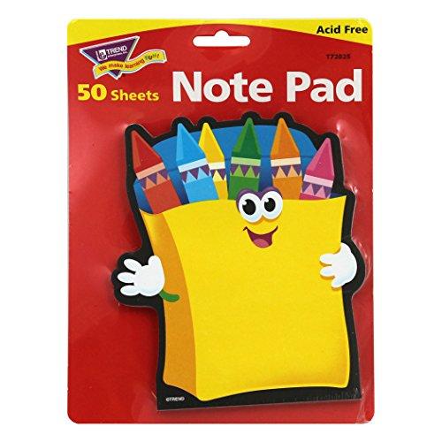 Trend Enterprises Crayons Shaped Note Pad (50 Piece)