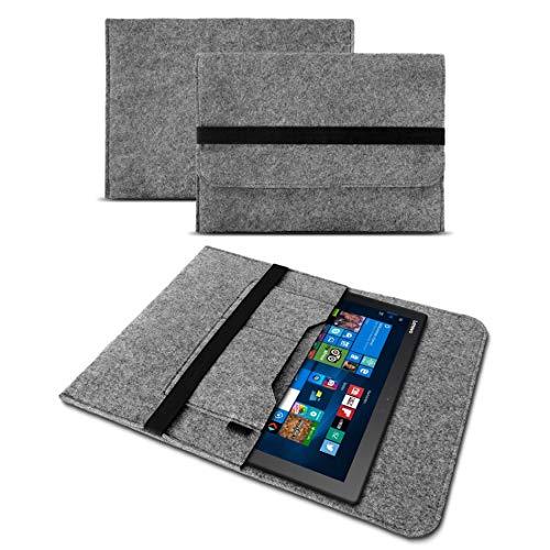 UC-Express Tasche Hülle für Lenovo Ideapad Miix 320 310 300 Filz Hülle Sleeve Cover Bag Schutzhülle, Farben:Grau