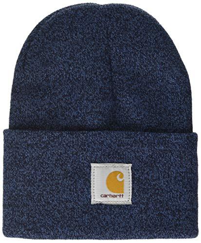 Carhartt Men's Knit Cuffed Beanie-Dark Blue/Navy-OFA
