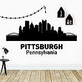 Divertido estilo de Pittsburgh Pennsylvania pegatina de pared decoración elegante habitación decoración del hogar