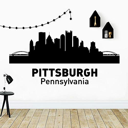 Divertido estilo de Pittsburgh Pennsylvania pegatina de pared decoración elegante habitación decoración del hogar