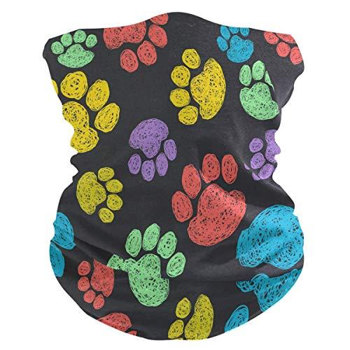Xiumeimei Animal Dog Paw Print Sombreros Polaina del Cuello Scarf Bandana Venda Polvo de pasamontañas...