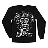 Officially Licensed Merchandise Gas Monkey Garage - Dallas Texsas Long Sleeve Tee (Black), Small