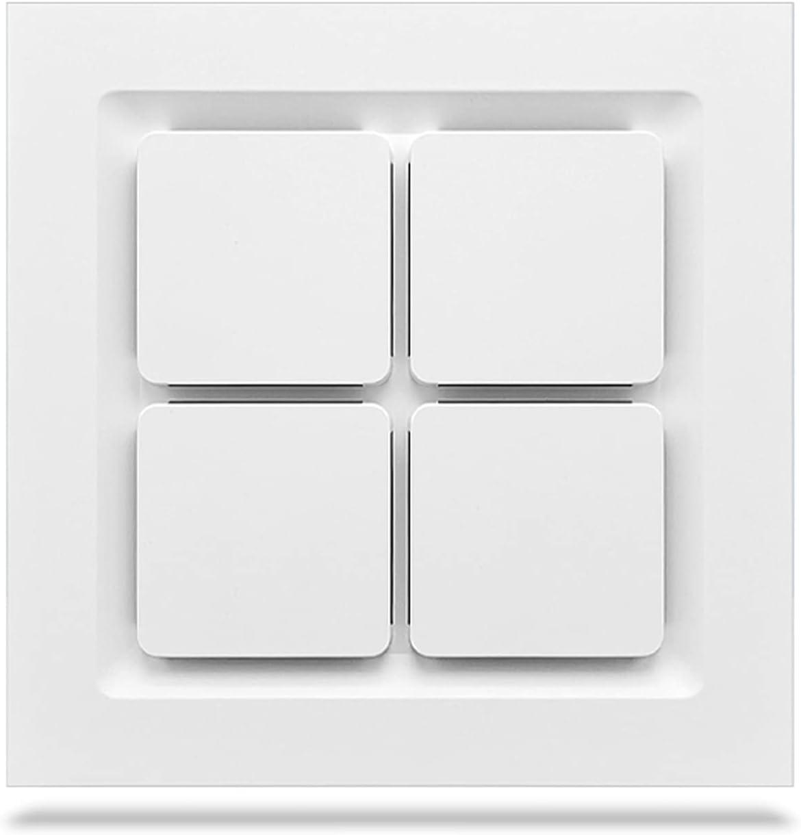Ventilador extractor Ventilador de ventilación de techo integrado Ventilador de escape potente 30 × 3 0CM Ventilador de escape de techo de alta potencia de baño Ventilador de ventilación de cocina inc