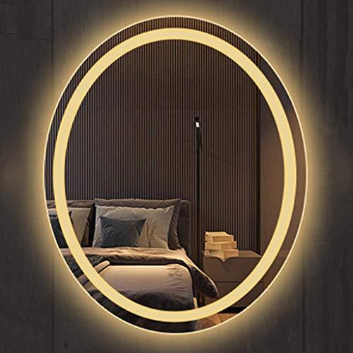 HZWLF Espejo baño Baño Ovalado Inteligente luz LED