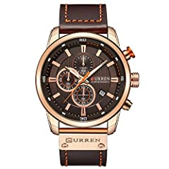 High quality Japanese quartz movement with analog display, provide precise time keeping WATCH FUNCTION: All sub-dials and hands and are functional, Full Functional Chronograph, 30M waterproof and Date Display WATERPROOF FOR DAILY USE: 3 ATM Water res...