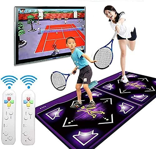 Ghongrm Estera Doble doblada Plegable, Aislamiento de Sonido Soft 3D Somatosensory Juegos Pads Computer TV Doble Propósito para Home Gym Herramientas para Adultos/niños