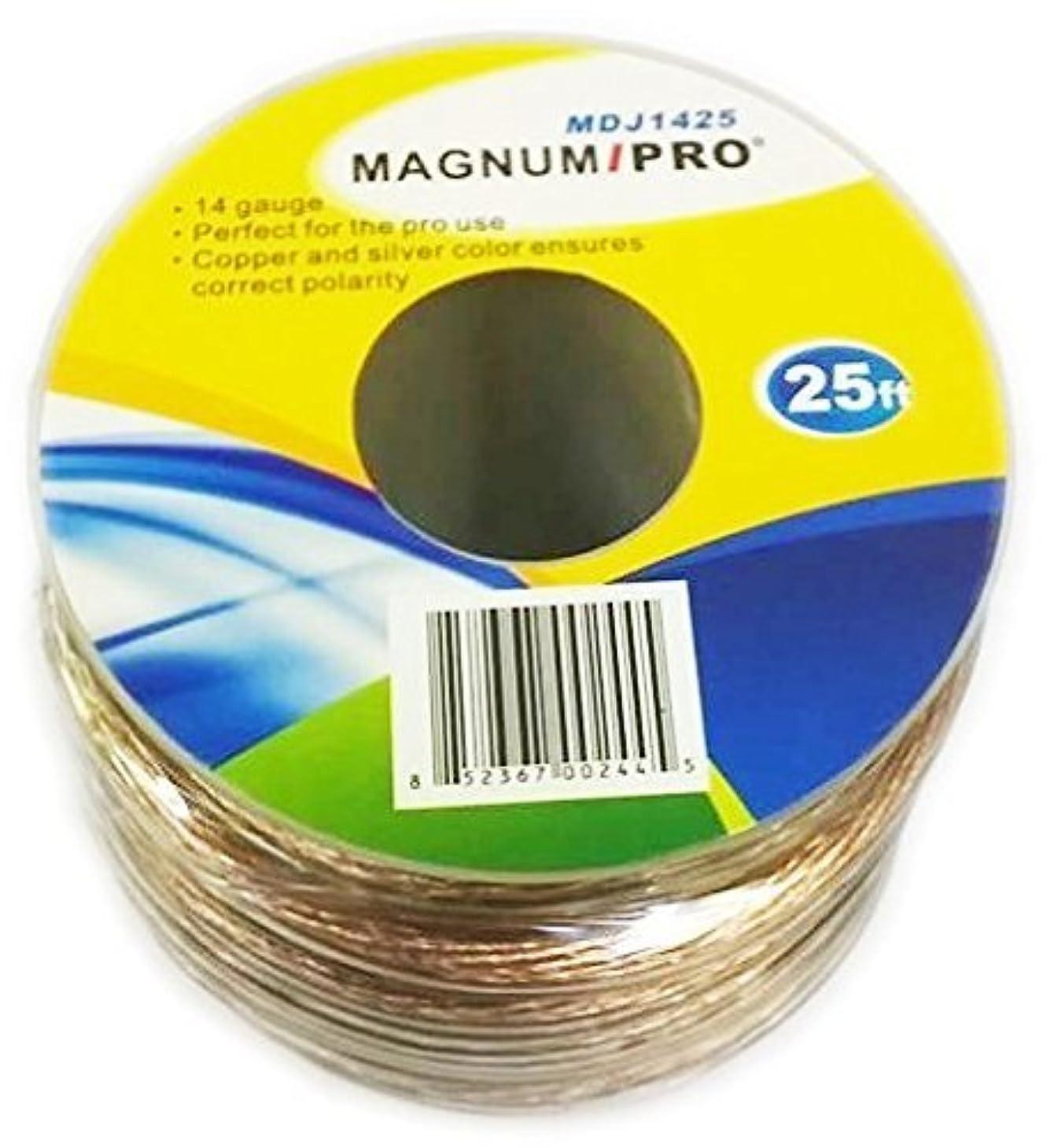 ぼんやりした親密な複雑なMAGNUM PRO mdj1425?25?ft 14ゲージスピーカーケーブル( 100?%銅線
