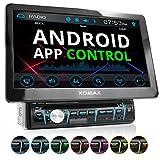 XOMAX XM-D1002 Autoradio 10,1' écran Tactile XXL I Bluetooth I Lecteur DVD CD I SD, USB I 1 DIN