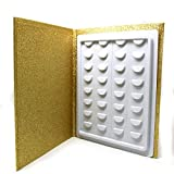 Laipi 16Pairs False Eyelash Storage Book Box, Makeup Display Container Holder, Glitter Cover False Eyelash Storage Case