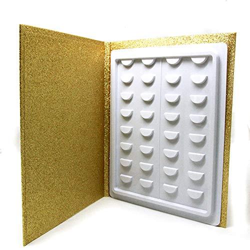 Lot de 16 paires de livres de rangement pour cils, boîte de rangement pour cils, présentation de maquillage, boîte de rangement pour cils, boîte de rangement pour cils, boîte de voyage à paillettes