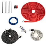 Carwires 8-AWG Car Amplifier Wiring Kit (ANL Fuse Holder with 60A Fuse) True Spec, Soft Touch Cable. Great for Car Audio Amp Installations (AIK-PS8000)