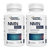 Suplemento NMN Mononucleótido de Nicotinamida | 500mg | 60 cápsulas por botella | Potenciadores NAD | Suplementos antienvejecimiento para la reparación celular y la energía (2 PACK)