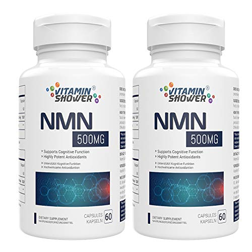NMN Supplement Nicotinamide Mononucleotide | 500mg | 60 Capsules Per Bottle | NAD Boosters | Anti Aging Supplements for Cellular Repair & Energy (2)