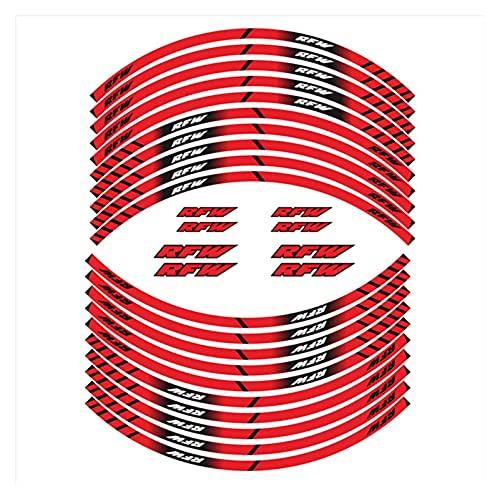 gzcfesbn Etiquetas de Rueda Interna de la Motocicleta Rim Decoración Reflectante calcomanías compatibles con Aprilia RFW HSGZC (Color : 3)
