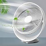 Ventilatore USB da 8 pollici, RATEL Ventilatore da Tavolo Silenzioso Ricaricabile, Regolazione a tre velocità, testa inclinabile variabile di 60 gradi, per L'home Office All'aperto