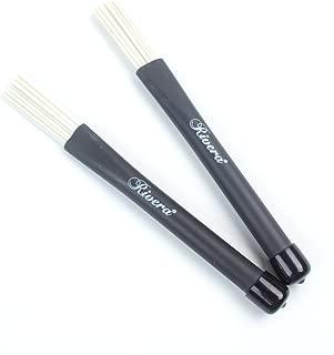 a pair of Classic Jazz Telescoping Retractable Wire Drum Brush Stick ,Nylon White