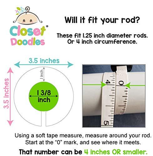 C97 Baby Girl Nursery Clothes Hanger Size Dividers Closet Organizer Elephants Pink Gray Set of 6