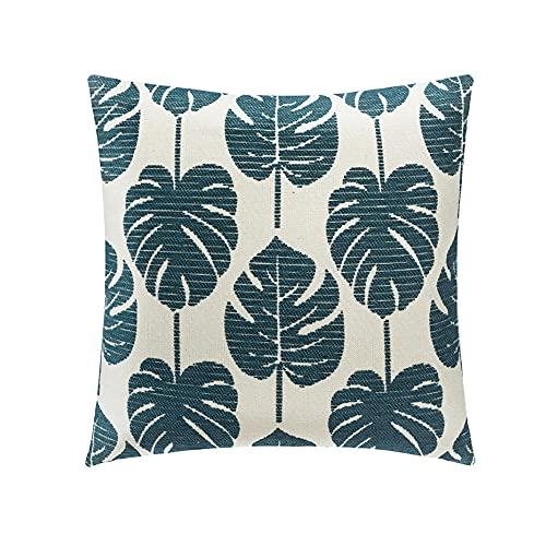 Federe cuscini divano 40 x 40 cm | Copricuscini divano stampa verde | Copri cuscini divano cotone e poliestere | Morbido copri cuscini per divano
