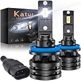 KATUR H8 H9 H11 Led Headlight Bulbs Mini Design Upgraded CREE Chips Extremely