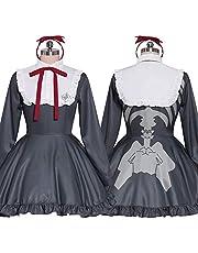 XXYHYQHJD Ultra rozgałęzienie dziewczęca Monaca Towa Cosplay sukienka dziewczęca sukienka na Halloween, impreza karnawał (kolor: żeński, rozmiar: XXXL)