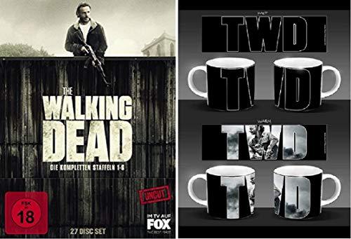 The Walking Dead Staffel 1-6 Blu-ray Box (1+2+3+4+5+6) Uncut + Tasse/Kaffebecher