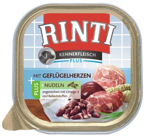 RINTI Kennerfleisch Geflügelherzen + Nudeln 9x300g