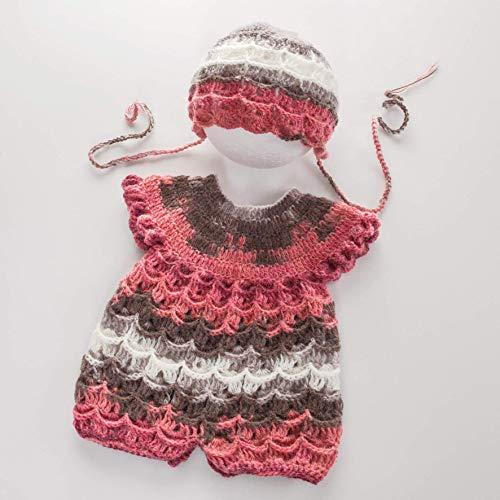Nursel Handmade, Baby Angora Strickoutfit, Baby Strampleranzug, Neugeborene Strick Set, Body und Mütze für Neugeborenen, Fotografen, frischgebackene Eltern, Fotografie Requisiten