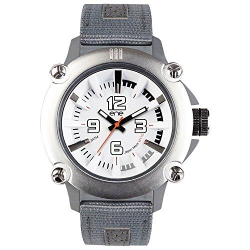 eNe Herren Analog Quarz Uhr mit Nylon Armband 640000109