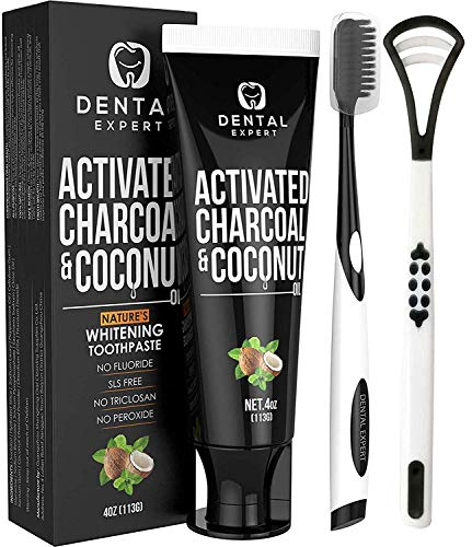Activated Charcoal Teeth Whitening Toothpaste - DESTROYS BAD...