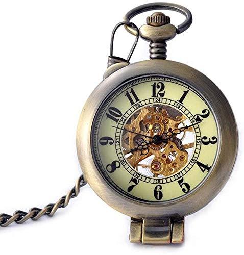 Antiguo aleteo Moda Reloj de bolsillo Personalidad de los hombres Mecánico Reloj de regalo Colgante Estudiante Reloj Tendencia Menores y mujeres,Copper