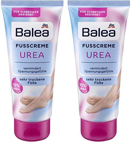 Balea Foot Cream with 10% Urea, Panthenol and Glycerin, 2 x 100 ml, Germany