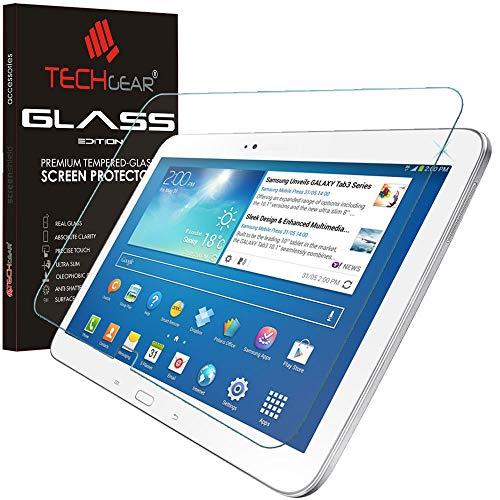TECHGEAR Vetro Temperato Compatibile con Galaxy Tab 3 10.1' (GT-P5200) - Autentica Pellicola Protecttiva in Vetro Temperato per Il Samsung Galaxy Tab 3 10.1 Pollici