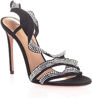 AQUAZZURA Luxury Fashion Womens RFCHIGS0SUE000 Black Sandals | Fall Winter 19