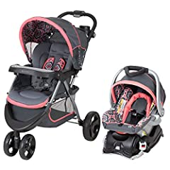 Includes Flex-Loc infant car seat and base Large soft head support for the car seat or the stroller Covered parent tray with two deep cup holders. Removable /washable insert child tray Weight capacity (car seat): 5 - 30 pounds and newborn height Mult...