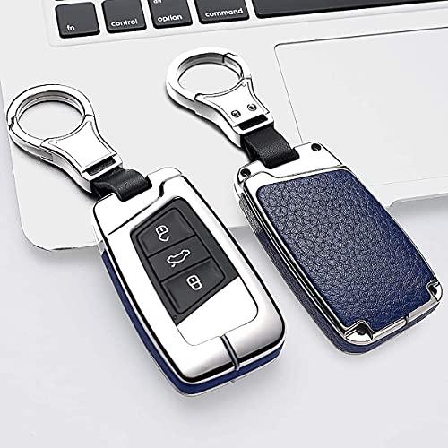 RFGOO - Funda de protección Completa para Llave, Compatible con VW Key Case, Smart Remote Key Shell, Compatible con Volkswagen Key Holder, Negro