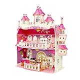 Doll House for Girls, Large Castle Two-Story Playhouse Dolls Playset with Furniture and Accessories Kit, Included Living Room, Bedroom, Kitchen and Bathroom