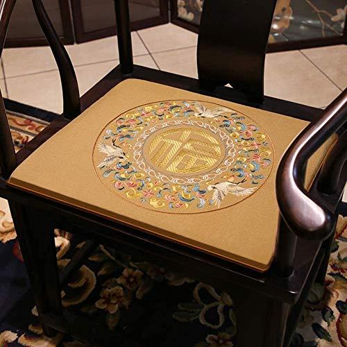 Mirui Chinese Rosewood Chair Cushion,futon Seat Cushion,non Slip Washable Chair Pad,tatami Floor Cushion,solid Wood Chair Cushion (Color : C, Size : 50x50cm(20x20inch))