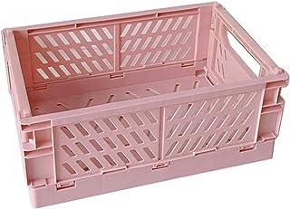 VIccoo Caisse Pliable, Conteneur cosmétique d'utilité de Panier de boîte de Rangement Pliable en Plastique de Caisse Pliab...