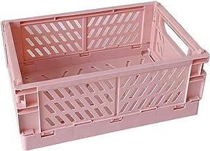 MIKI-Z Caisse Pliable, conteneur cosmétique d'utilité de Panier de boîte de Rangement Pliable en Plastique de Caisse Pliable