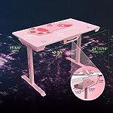 EUREKA ERGONOMIC I1-S Gaming Desk – 45 Zoll (Pink) - 3