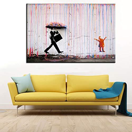 Graffiti Kunst Leinwand Malerei Regenwasser Kunstdruck Poster moderne Druck Ölgemälde Bild rahmenlose dekorative Leinwand Malerei Z59 30x40cm