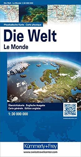 Kümmerly & Frey Karten, Die Welt, Physikalische Karte, 1 : 30 Mio. (Kümmerly+Frey Welt- und Kontinentkarten)