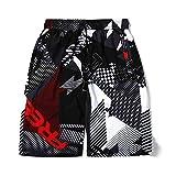 Cuizc - Pantalones cortos de secado rápido para hombre, talla M, L, XL, XXXL, XXXL, XXXL, XXXXXXL Letras 50